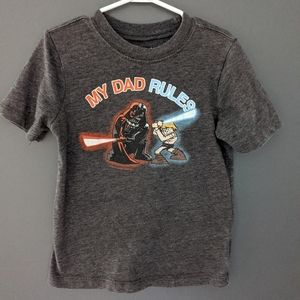 """Star Wars """"my dad rules"""" grey t-shirt"""